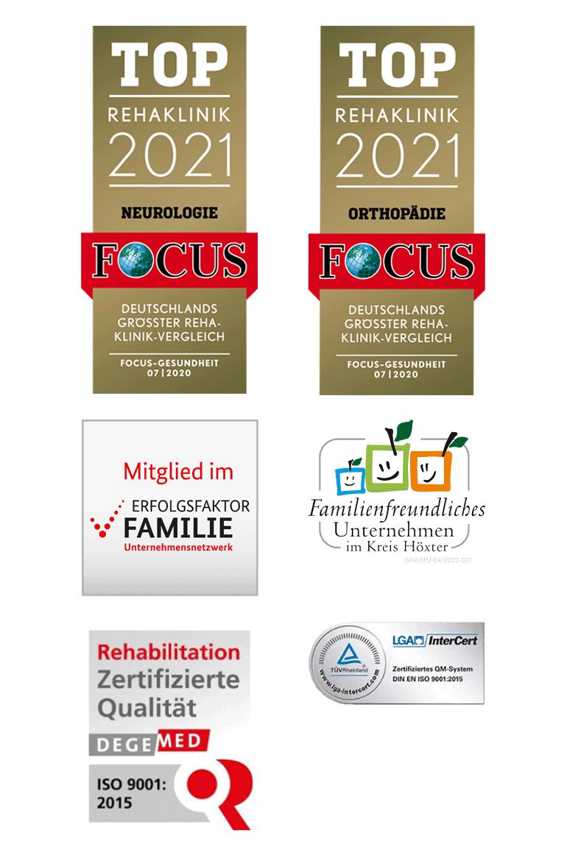 Siegel Auszeichnung Marcus Klinik